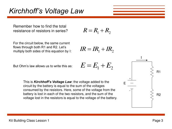 Kirchhoff s voltage law