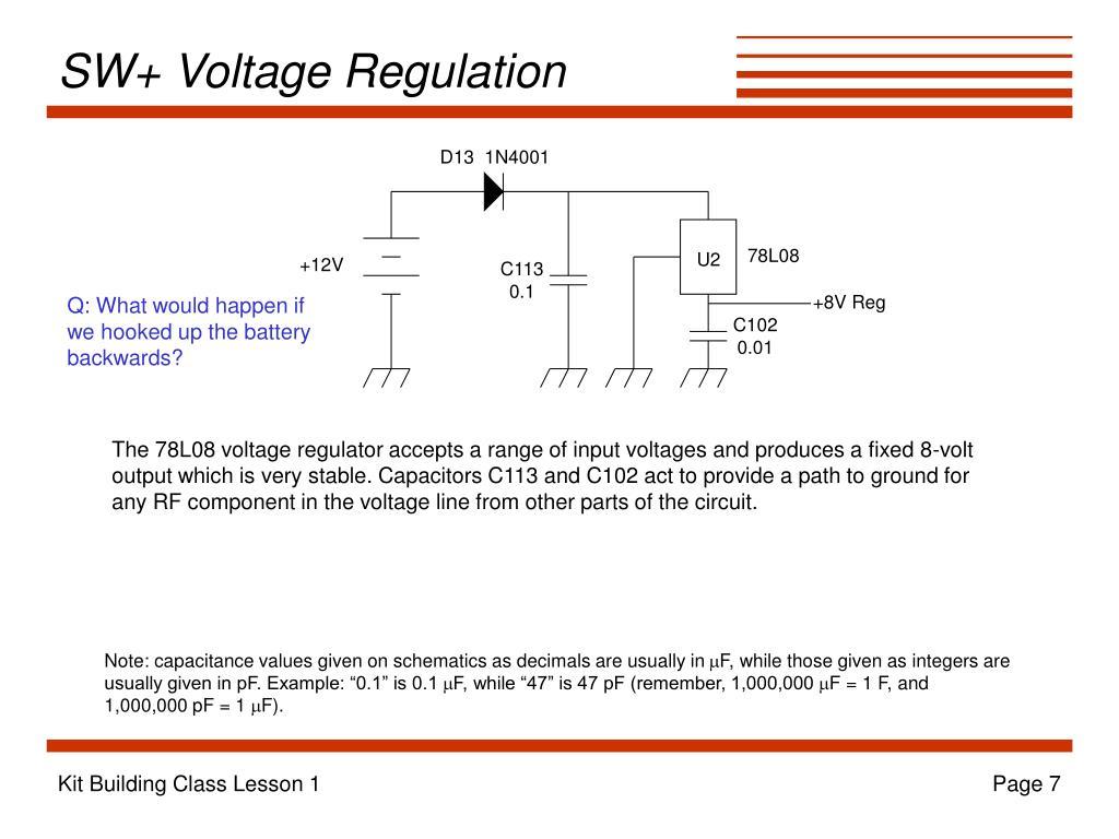 SW+ Voltage Regulation