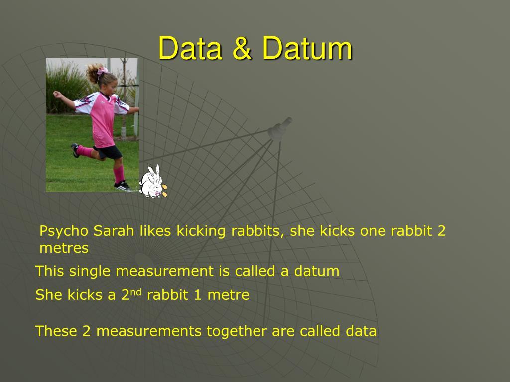 Data & Datum