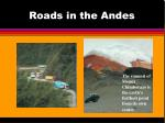 roads in the andes