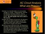ac circuit analysis what are phasors