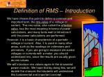 definition of rms introduction