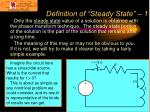 definition of steady state 1