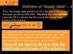 definition of steady state 4