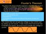 fourier s theorem