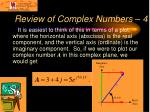 review of complex numbers 4