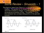some review sinusoids 1