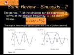 some review sinusoids 2
