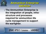 ammunition enterprise definition