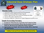 industrial base strategic plan
