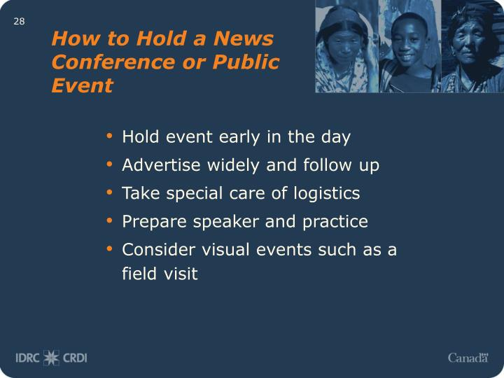 How to Hold a News Conference or Public Event