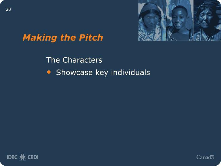 Making the Pitch