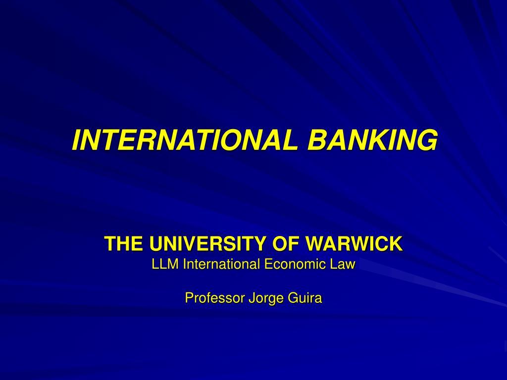 international banking l.