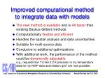improved computational method to integrate data with models