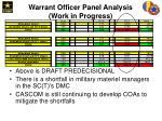 warrant officer panel analysis work in progress