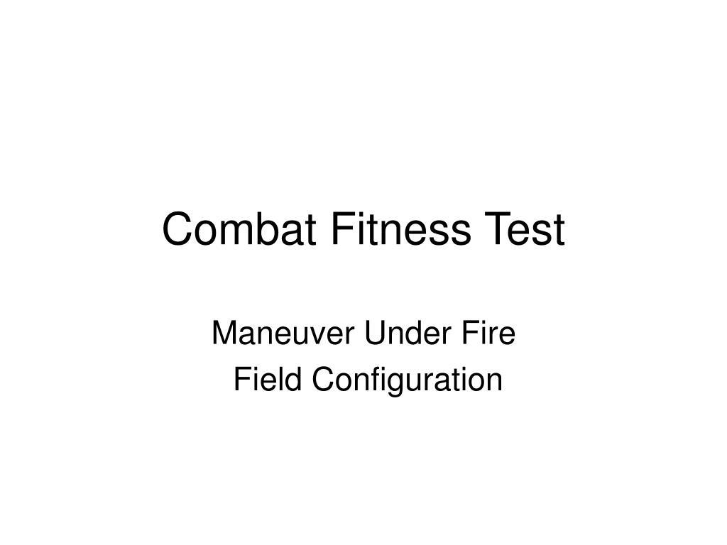 combat fitness test l.