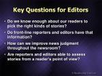 key questions for editors