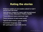 rating the stories