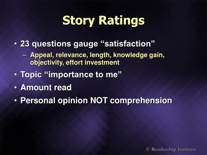 Story Ratings