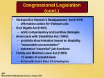 congressional legislation cont