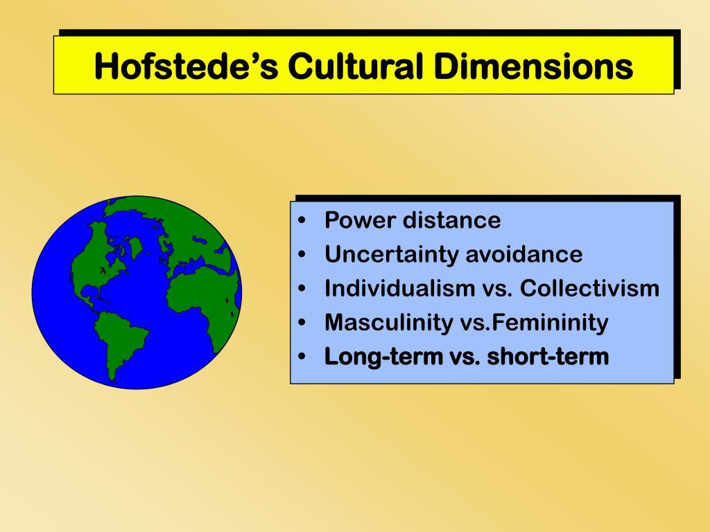 hofstede s cultural dimensions l.