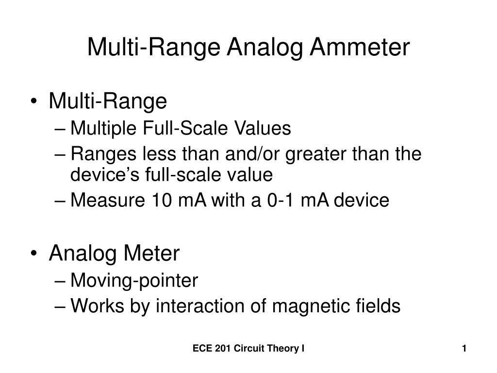 multi range analog ammeter l.