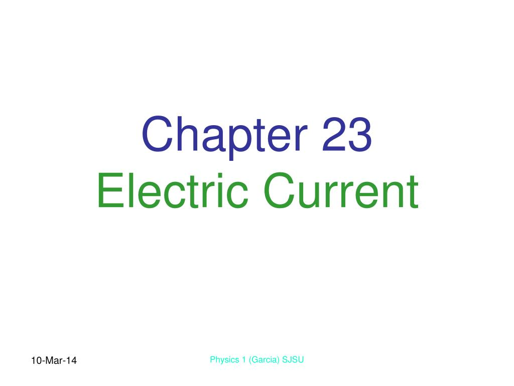 chapter 23 electric current l.