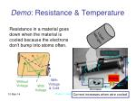 demo resistance temperature