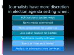 journalists have more discretion in election agenda setting when