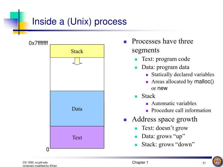 Inside a (Unix) process