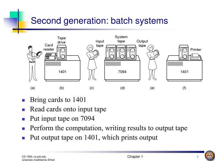 Second generation: batch systems