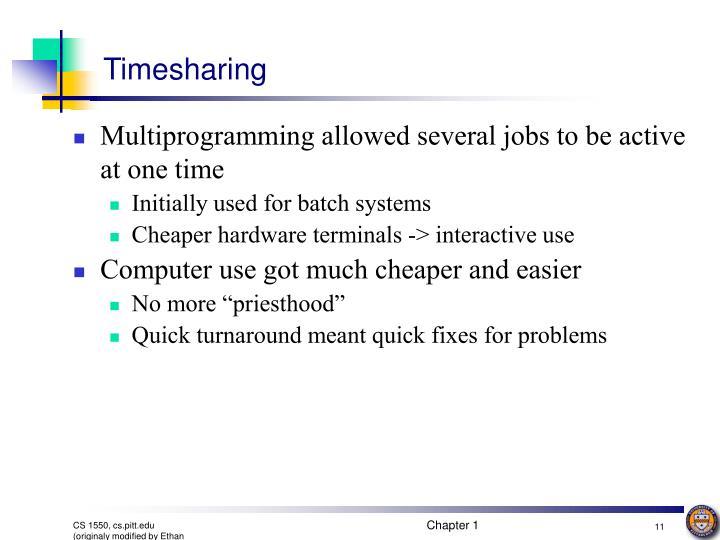 Timesharing