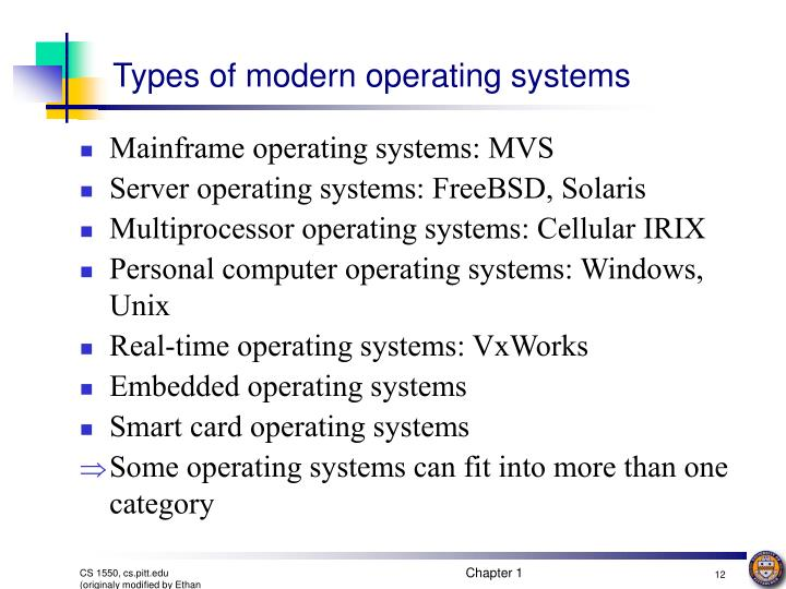 Types of modern operating systems