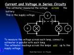 current and voltage in series circuits2