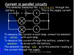 current in parallel circuits2