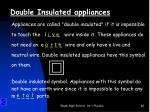 double insulated appliances