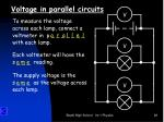 voltage in parallel circuits2