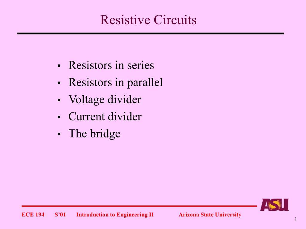 resistive circuits l.
