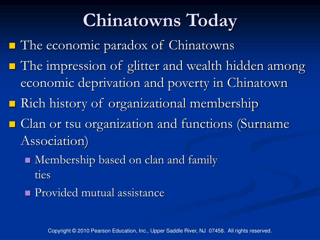 Chinatowns Today
