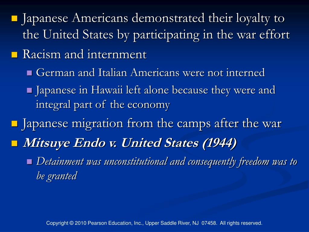 Japanese Americans demonstrated their loyalty to the United States by participating in the war effort