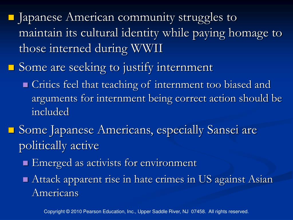 Japanese American community struggles to maintain its cultural identity while paying homage to those interned during WWII
