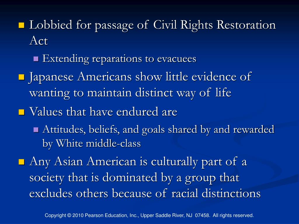 Lobbied for passage of Civil Rights Restoration Act
