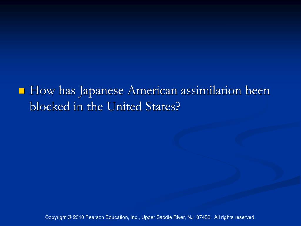 How has Japanese American assimilation been blocked in the United States?