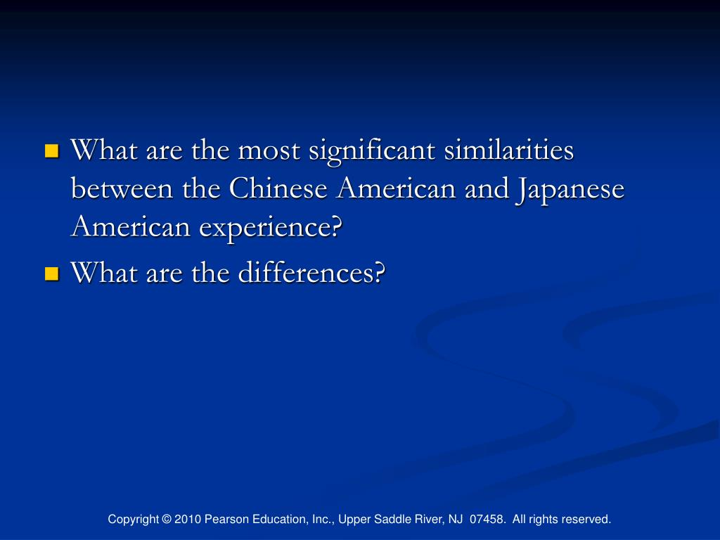 What are the most significant similarities between the Chinese American and Japanese American experience?