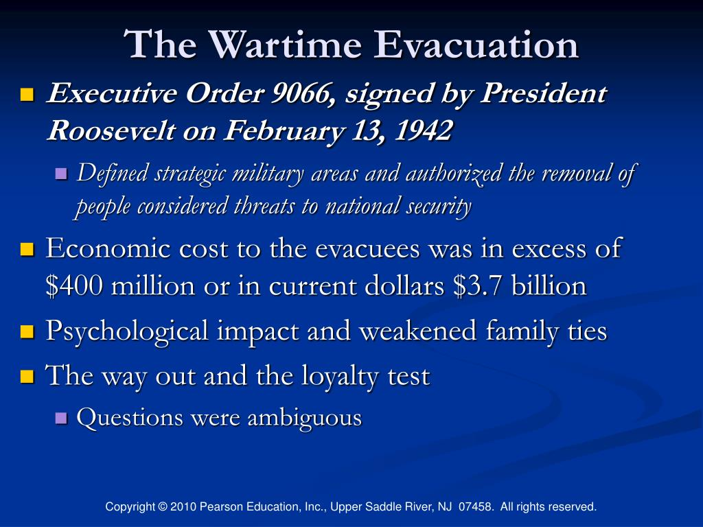 The Wartime Evacuation