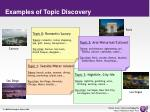 examples of topic discovery
