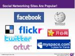 social networking sites are popular