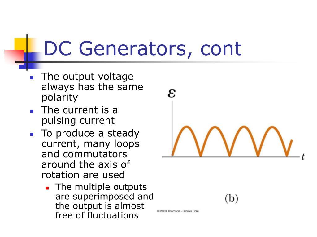 DC Generators, cont
