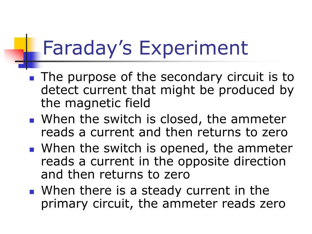 Faraday's Experiment