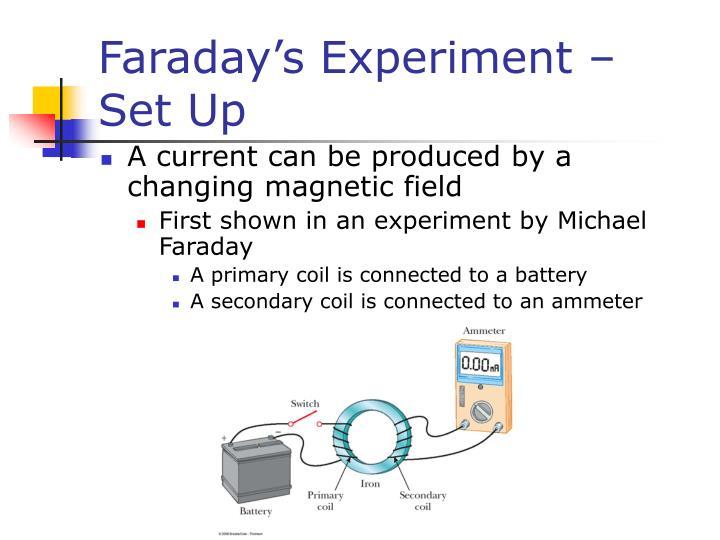 Faraday s experiment set up